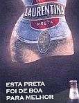Publicidade da Laurentina preta