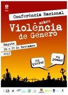Cartaz da Conferência Nacional sobre a Violência de Género