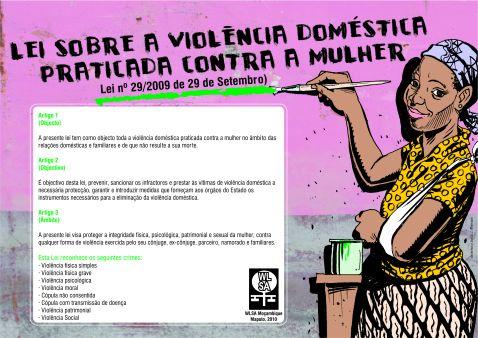 Cartaz sobre a Lei da violência doméstica