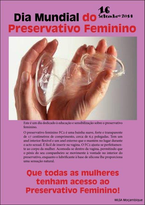 Cartaz do Dia Mundial do Preservativo Feminino