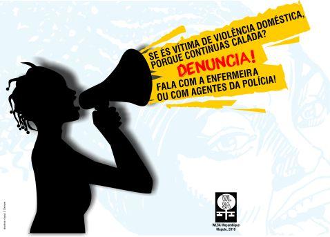 Cartaz contra a violência doméstica
