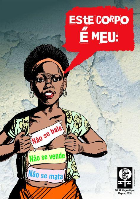 Cartaz da WLSA Moçambique
