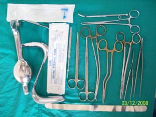 Kit para operar fístulas vesico-vaginais
