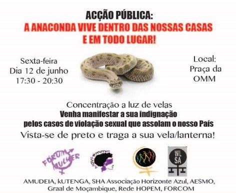 Cartaz contra a impunidade dos violadores