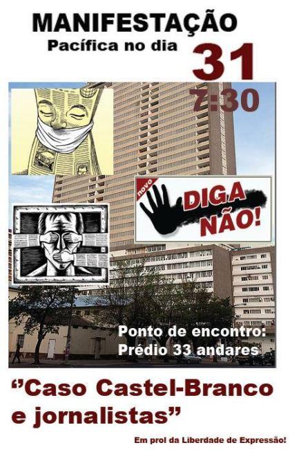 Cartaz da Manifestação pela Liberdade de Expressão