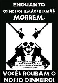 Cartaz Manifestação 18 de Junho