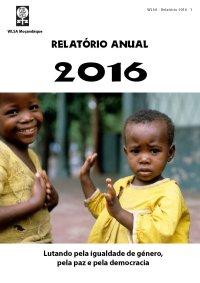 Capa do relatório anual