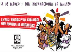 Cartaz da WLSA pelo dia 8 de Março de 2018