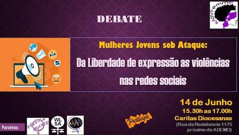 Convite debate Mulheres Jovens sob Ataque