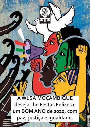 Cartão da WLSA Moçambique desejando um feliz 2020