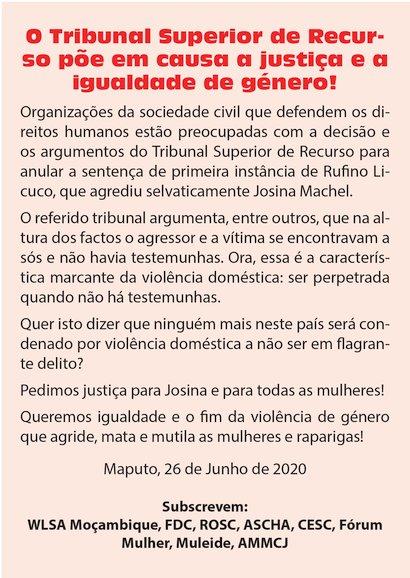 Tribunal Superior de Recurso anula sentença de primeira instância de Rufino Licuco